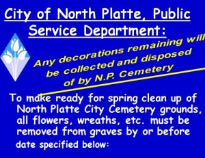 north platte cemetery spring clean up by date