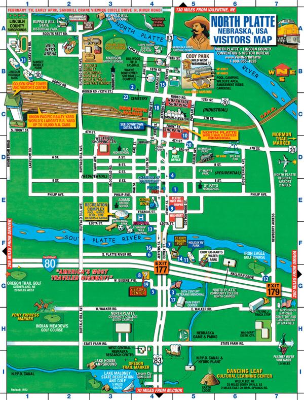 north platte nebraska map City Of North Platte north platte nebraska map