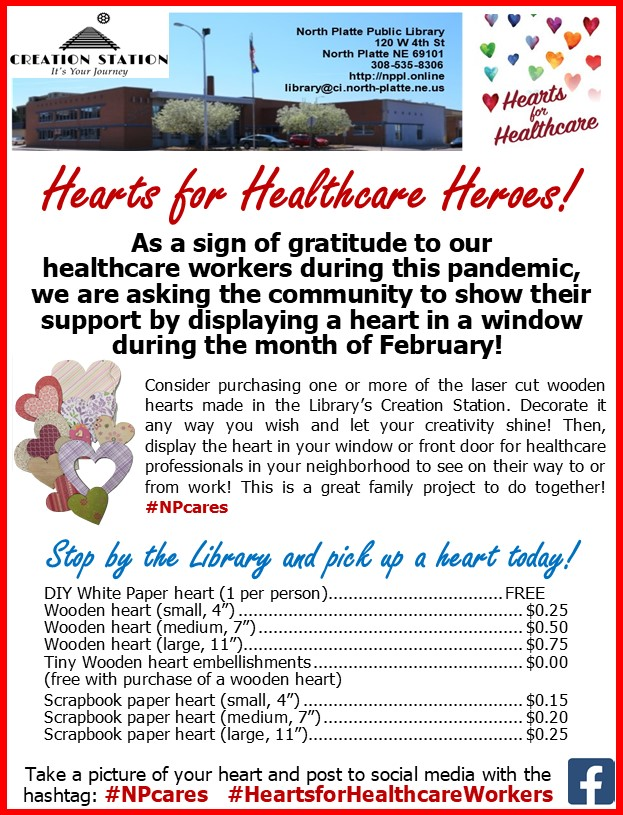 Hearts for Healthcare Heroes at the Library