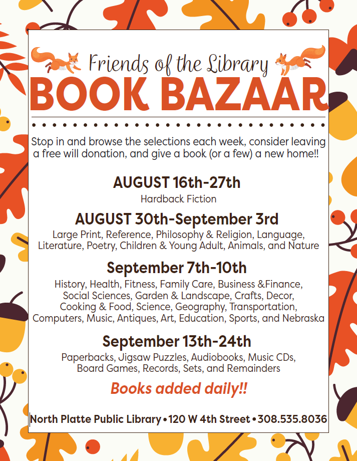 Fall 2021 Book Bazaar Poster